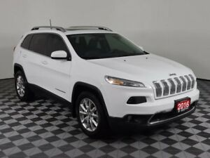 2016 Jeep Cherokee LIMITED/LEATHER/HEATED SEATS/REMOTE START/POW