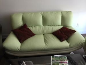 couch and chair leather