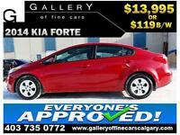 2014 Kia Forte LX $119 bi-weekly APPLY TODAY DRIVE TODAY