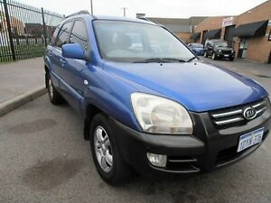 2005 Kia Sportage KM Blue 4 Speed Sports Automatic Wagon Wangara Wanneroo Area Preview