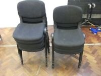 9 Stackable Office Chairs . Brand - Burosit .