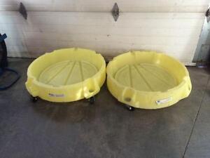 Chariot récupérateur de déversement pour baril 45 gallons - 45 gallon drum spill containment dollies