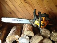 Poulan Pro 50cc Chainsaw with Husqvarna Bar