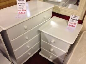 New Sol White bedside Only £39 fully built, last one