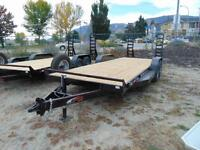 2016 Mirage 22' Heavy Duty Equipment Trailer w. Fold Down Ramps