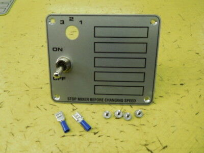 Hobart Mixer Switch Plate With Switch Screws For C100 10qt Mixer 00-291735