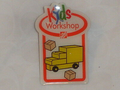 NEW THE HOME DEPOT KIDS WORKSHOP MOVING TRUCK PIN COLLECTIBLE RARE COLLECTORS