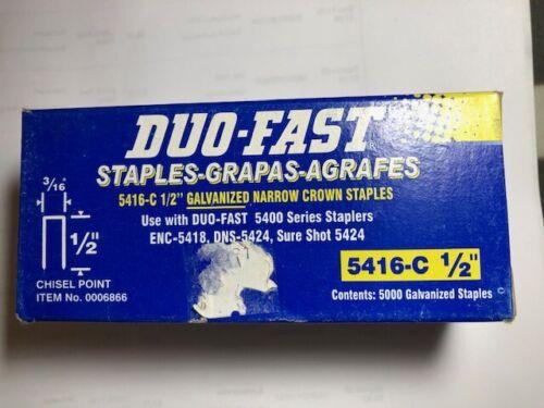 "DUO-FAST 5416-C 1/2"" x 3/16"" Galvanized staples 5000 per Box FREE SHIPPING"