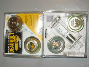 Set of TWO Defiant Double Cylinder Brass Deadbolt, in package!