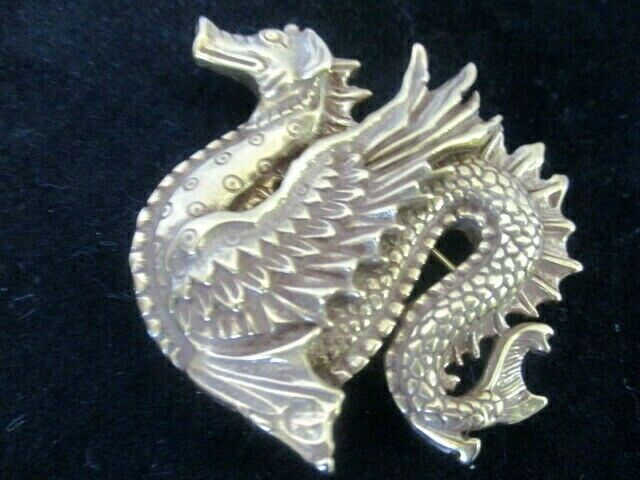Vintage MMA Gold Dragon Brooch