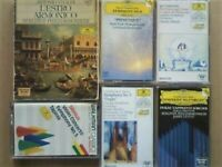 CSL JL AD3 7x VERY RARE DEUTSCHE GRAMMOPHON PRERECORDED CLASSICAL COMPOSER CASSETTE TAPES