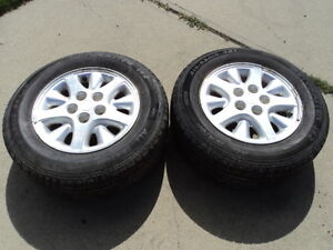 2 Motomaster Tires with Rims for Caravan 215/65/15