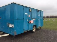 Mobile welfare unit - kitchen/rest room and separate site office /secure tool store
