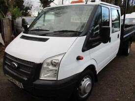 2012 Ford Transit 2.2TDCi 6 SPEED 350 Double cab/PICK UP TIPPER LWB NO VAT