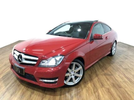 2012 Mercedes-Benz C250 CDI C204 BlueEFFICIENCY 7G-Tronic Red 7 Speed Sports Automatic Coupe Kingsgrove Canterbury Area Preview
