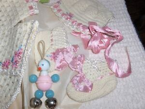 Vintage 60 yr.-old Baby outfits group