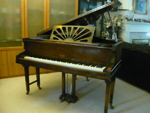 "Antique Allison Baby Grand Piano (57""x58""x38.5"")"