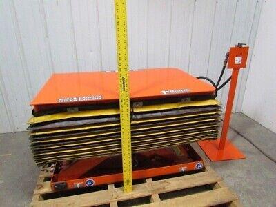 Knight 2 Ton 4000 Lb Air Pneumatic Scissor Lift Table 24x38top 7-23height