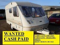 £££ WE PAY CASH £££ CARS / VANS / LORRY'S CARAVANS / BIKES/ TRAILERS £££ WANTED £££ BEDS~HERTS~BUCKS