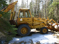 Case Back Hoe selling by Auction to liquidate Estate
