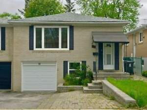 Beautiful 3 Bedroom House Apartment for Rent - North York