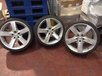 "3 x Chrysler Startech 20"" Alloy Wheels 9J x 20 H2 Includes Tyres"