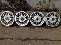 "BBS 4x108, 14"", 6J DEEP DISH ALLOY WHEELS, original classic, not borbet tm"