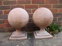 Terracotta Pier Caps - Pillar Ball Caps - Entrance Gate Pillar Finials