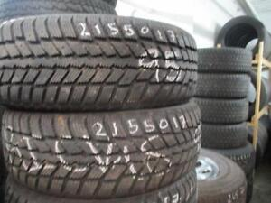 215/50 R17 NEXEN WINGUARD WINTER TIRES ON MULTI-FIT RIMS USED SNOW TIRES (SET OF 4 - $550.00) - APPROX. 80% TREAD