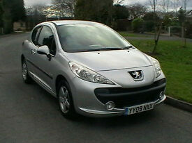 09 REG PEUGEOT 207 207 1.4 VERVE 3 DOOR HATCHBACK IN METALLIC SILVER HPI CLEAR