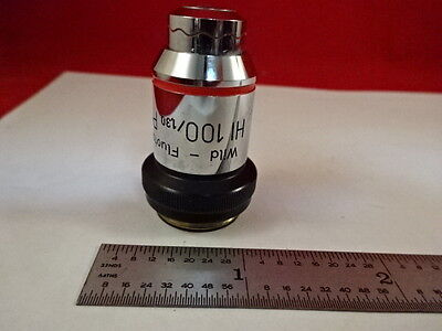 Microscope Wild Heerbrugg Swiss Objective 100x Ph Phase Optics As Is Bad-08