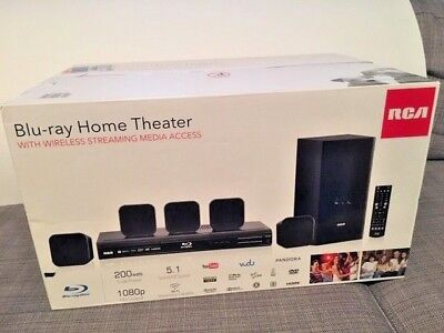 RCA Home Theater System with Blu-ray Player 5.1 Surround Sound WiFi HDMI 1080p