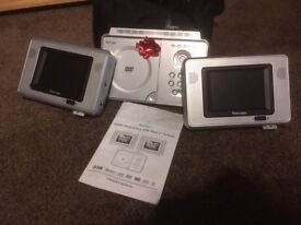 DVD player - dual screens for in-car. With all leads, carry case and instructions