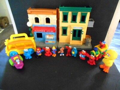 Sesame Street 123 Mr. Hooper's Store Play Set House Huge Lot Figures + More - Sesame Street Figures Set