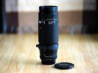 like new nikon AF 75 300 telephoto lens (pro level)