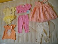 New and used clothes and for girls 3-6 months