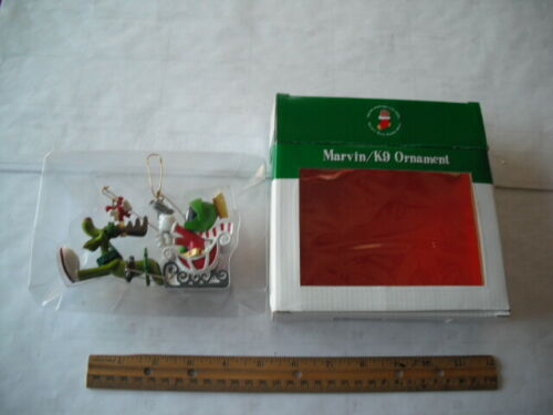 LOONEY TUNES MARVIN THE MARTIAN K9 DOG CHRISTMAS  ORNAMENT IN ORIGINAL BOX