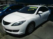 2009 Mazda 6 GH1051 MY09 Classic White 5 Speed Sports Automatic Sedan Bray Park Pine Rivers Area Preview