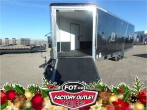 8.5 x 28 Insulated and Heated Sled Trailer > Drive On/Off Ramps!