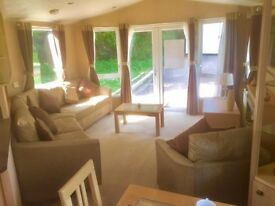 Cheap static caravan with French doors & TWO double Bedrooms! Near the beach. Caravan for sale devon