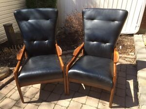 Adrian Pearsall-Style Mid Century Wingback Lounge Chairs