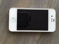 Iphone 4s 8 gb with charger and cover