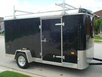 6 x 12 Custom Enclosed Trailer With Ramp And Side Door