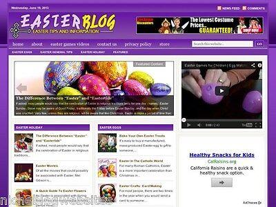 Easter Sunday   Decor   Candy Niche Wordpress Blog Website For Sale