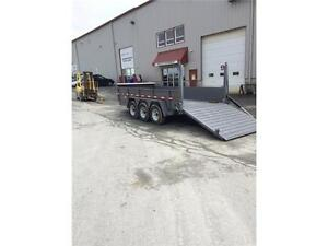 2016 Brimar 7 x 6 TriAxle Trailer w/ Hyd. Gate & Hammer Guard