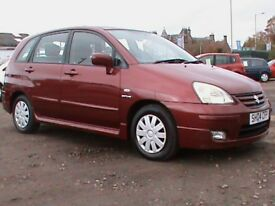 SUZUKI LIANA 1.6 AUTOMATIC 5 DR RED,1 OWNER,1 YRS MOT,CLICK ON VIDEO LINK TO SEE CAR IN MORE DETAIL
