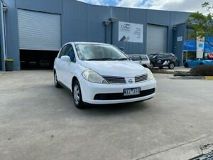 2009 Nissan Tiida C11 MY07 ST White 4 Speed Automatic Sedan Newport Hobsons Bay Area Preview