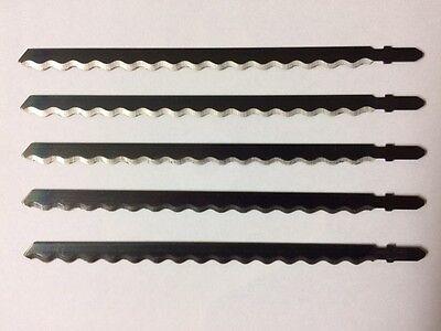 5 Profi Stichsägeblätter 180 mm Wellenschliff  Leder Styropor Teppich Papier