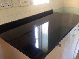 Solid Black Worktop