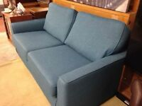 Ikea Teal Fabric Sofa In Excellent Condirtion